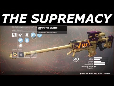 THE SUPREMACY SNIPER RIFLE IS BACK! PvP
