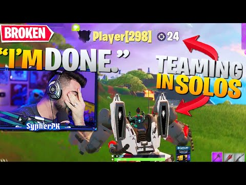 Fortnite Has Basically ALLOWED Teaming In SOLOS... (I'm So Done) - Fortnite Battle Royale