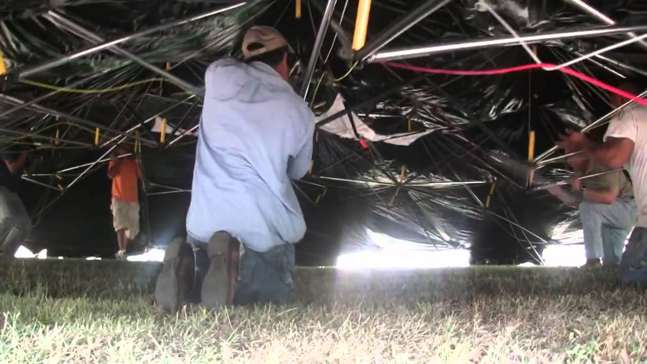 Deployment of HDT Model 8D36 Large Dome Shaped Shelter & Deployment of HDT Model 8D36 Large Dome Shaped Shelter - YouTube