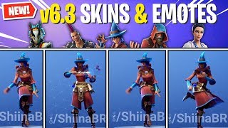 *ALL* Fortnite 6.3 SKINS & EMOTES IN-GAME! (Neue Update-Skins und Emotes)