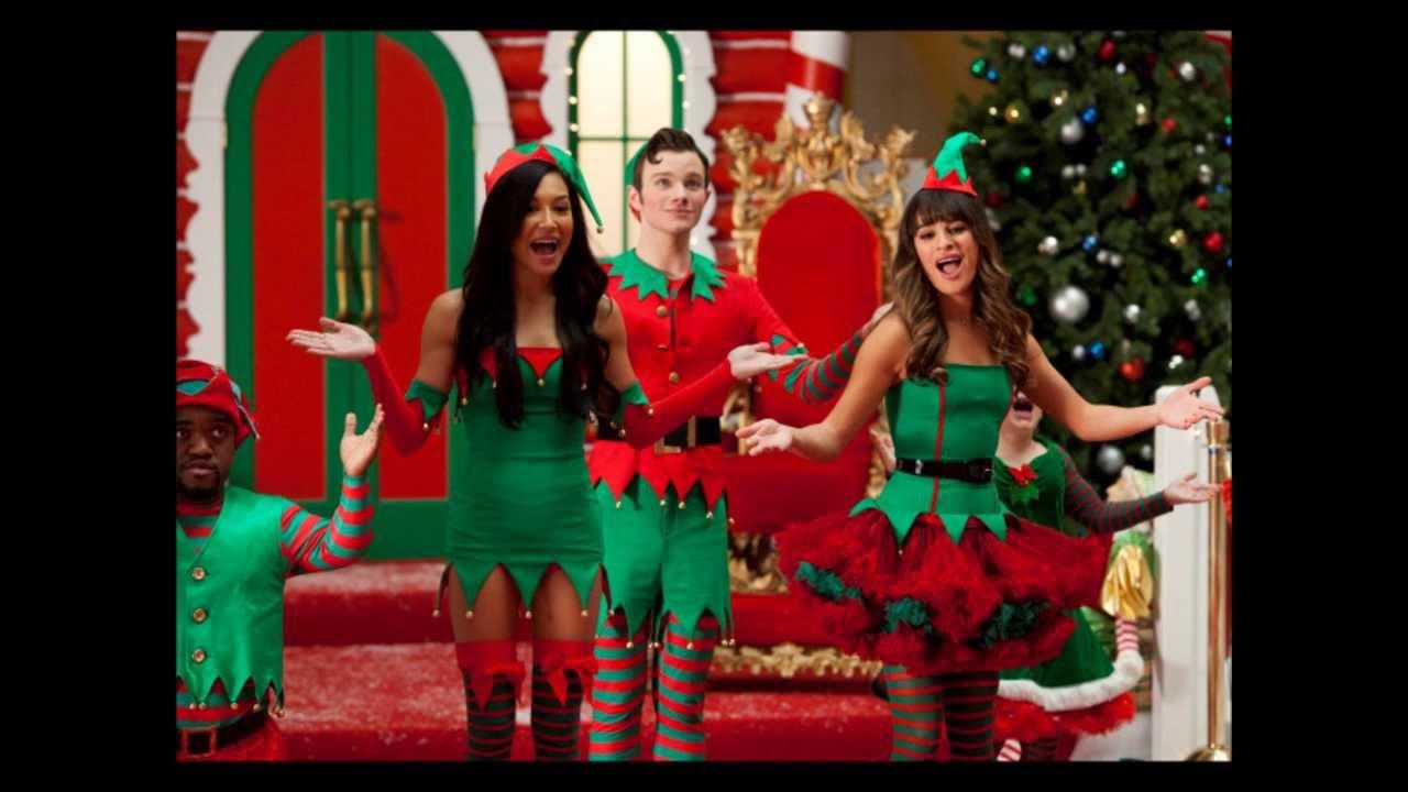 Rockin' Around the Christmas Tree - Glee Cast Version - YouTube