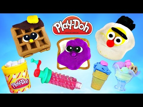 PLAY DOH Jumbo Episodes ★ Playdough Foods ★ Playdoh Sweet Sh