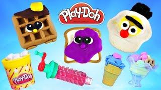 Play Doh Jumbo Episodes ★ Playdough Foods ★ Playdoh Sweet Shoppe Treats Lollipops Ice Cream Candy
