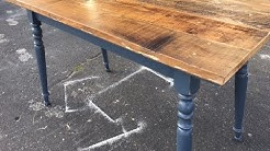 $25 Thrift Store country dining table. makeover. Fun project for all skill levels