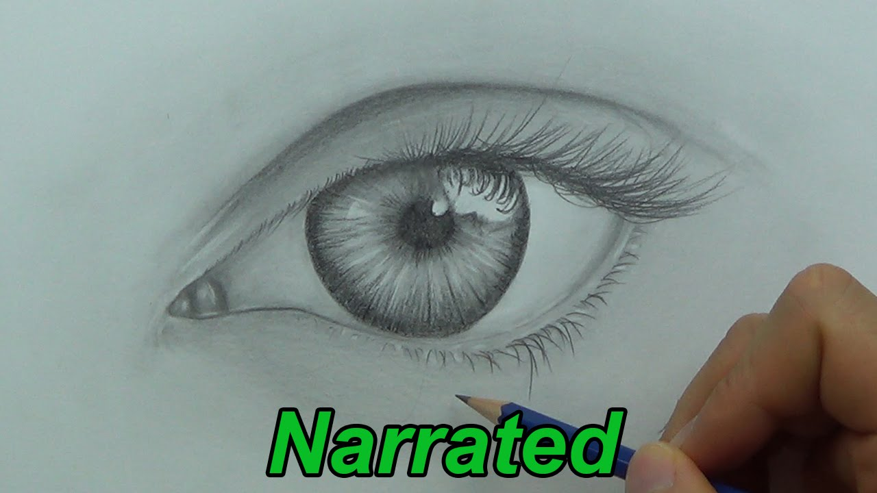 How To Draw A Realistic Eye - Drawing Eyes (Narrated ...