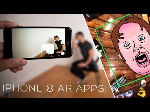 5 AMAZING Augmented Reality Apps for the iPhone 8!