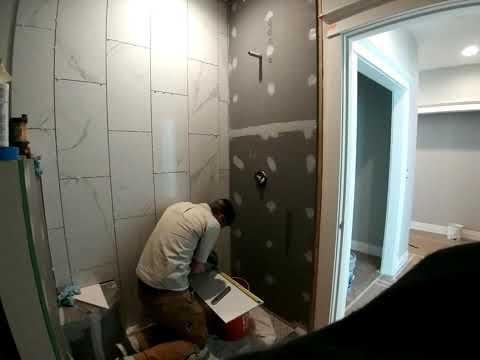 Tile shower install part 2