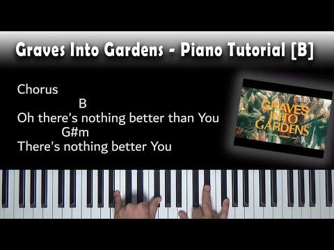 Graves Into Gardens - Easy Piano Tutorial [B]