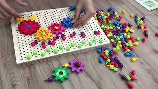 Download Video Wooden button nail puzzle and board games MP3 3GP MP4