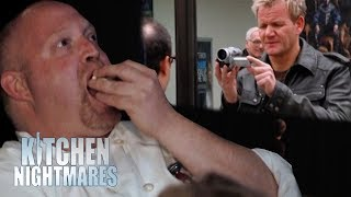 Chef EATS POPCORN While Watching Video of Himself Get Insulted! | Kitchen Nightmares