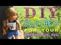 DIY American Girl Doll Clothes (tank top+ shorts)