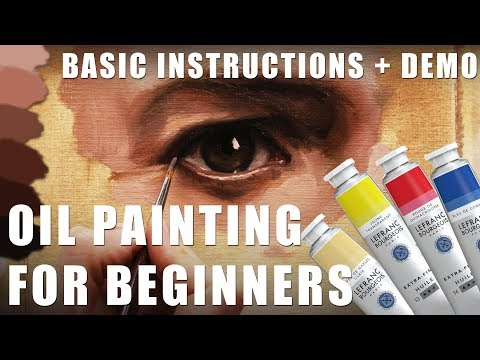Oil Painting for Beginners Part 1 – Basic Techniques + Step by Step Demonstration