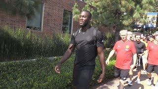 Romelu Lukaku Arrives At His First Manchester United Training Session - Manchester United Tour 2017