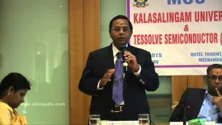 Kalasalingam University Signs MOU with Tessolve Semiconductor Event
