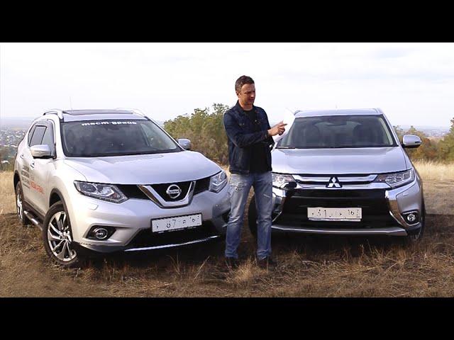 Mitsubishi Outlander против Nissan X-Trail 2015. Игорь Бурцев