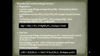 analisis kation golongan 5 (kelompok 7)