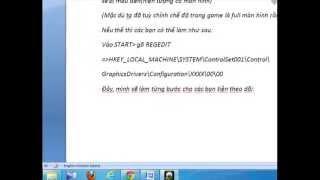 Game | Hướng dẫn cách chỉnh full màn hình khi chơi game trong win 7 | Huong dan cach chinh full man hinh khi choi game trong win 7