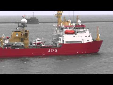 British Royal Navy's Antarctic Ice Patrol Ship HMS Protector A173 Plymouth, England 12th August 2015