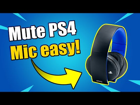 How To MUTE Any PS4 Microphone And PS4 Camera Mic (Easy Method)