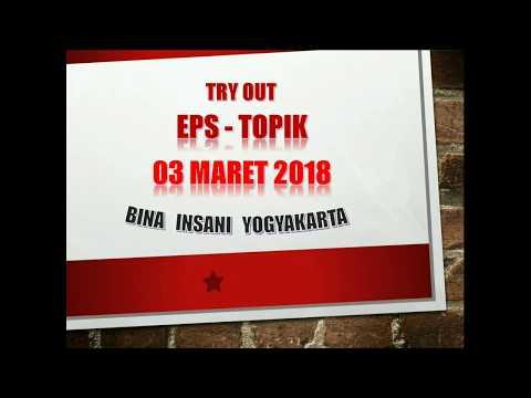 Pembahasan soal Tryout EPS-TOPIK CBT online 20180303 LPK Bina Insani Jogja