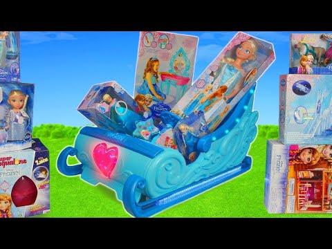 Disney Princesa bonecas de brinquedo : Rapunzel, Frozen Elsa, Cinderella, Ariel & Belle Doll thumbnail