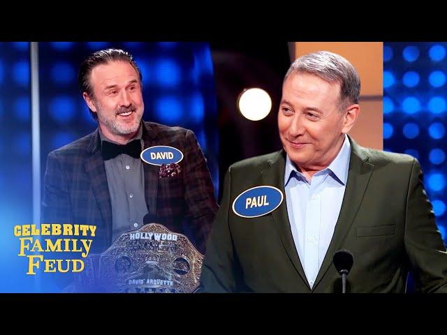 It's Pee-wee Herman vs. David Arquette on Celebrity Family Feud!