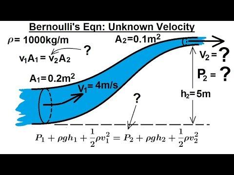 Physics: Fluid Dynamics: Fluid Flow (1.5 of 7) Bernoulli's Equation: Unknown Velocity