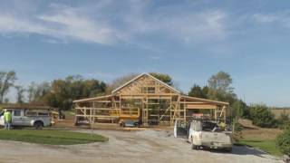 Building a pole barn: entire outer shell