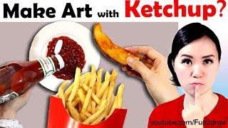 MAKE ART WITH KETCHUP | New Art Challenge! | Mei Yu