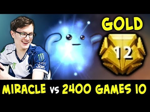 Miracle vs 2400 games Io SPAMMER — GOLD TIER all relics