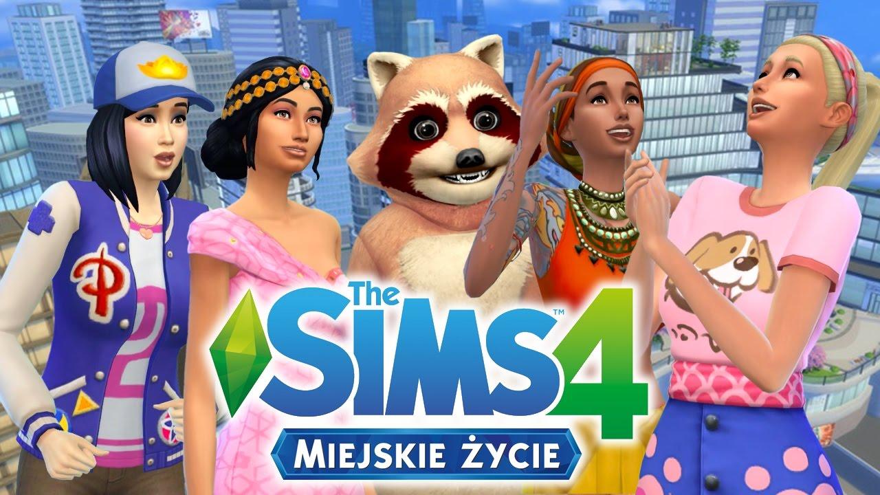 The Sims 4 Miejskie życie 1 Ubrania Fryzury Dodatki I Grampaula