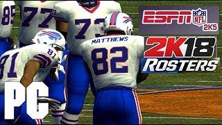 NFL 2k5 w/ NFL 2k18 Rosters on PC 1440p 60fps 16:9 (PS2 PCSX2 emu)