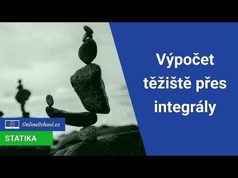 Výpočet těžiště plochy přes integrál   7/8 Síla, moment, osa, těžiště   Statika   Onlineschool.cz