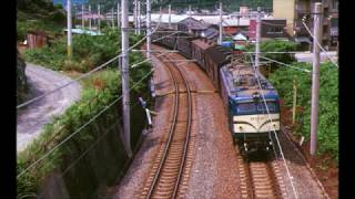 国鉄時代 EF58+旧型客車 走行音 (紀勢線:紀伊田辺~切目)