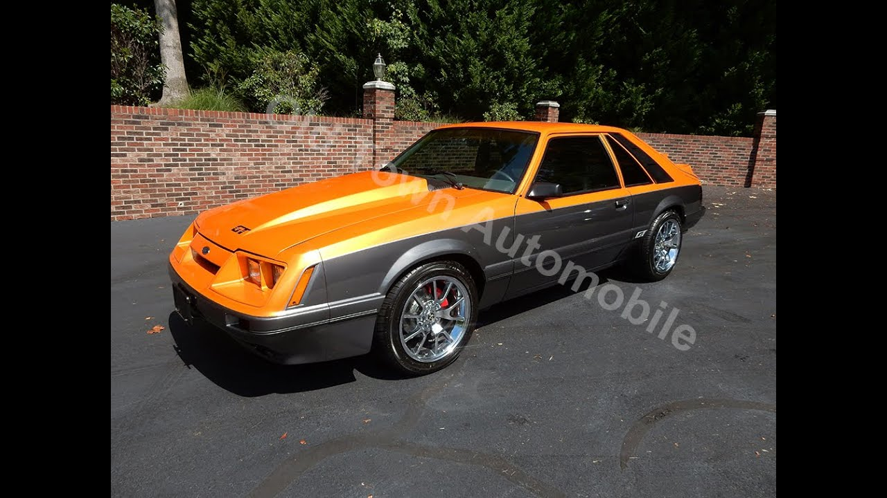 1986 mustang gt 5 0 orange for sale old town automobile in maryland youtube. Black Bedroom Furniture Sets. Home Design Ideas