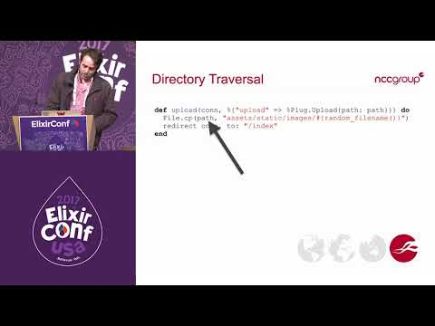 ElixirConf 2017 - Plugging the Security Holes in Your Phoenix Application - Griffin Byatt