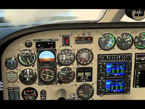 X-Plane 10 Carenado Cessna C340 test flight