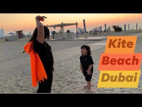Kite Flying with amazing view at Kite Beach Dubai