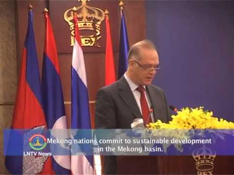 Lao NEWS on LNTV: Mekong nations commit to sustainable development in the Mekong basin.7/4/2014