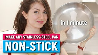 A TRICK EVERYONE SHOULD KNOW | How to make any stainless steel pan non-stick | THE MERCURY BALL TEST