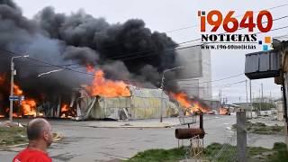 Video: Incendio consumió la fábrica Isla Grande