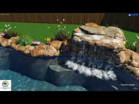 Dallas Swimming Pools | Freeform Pool with Waterfalls and Boulder Accents