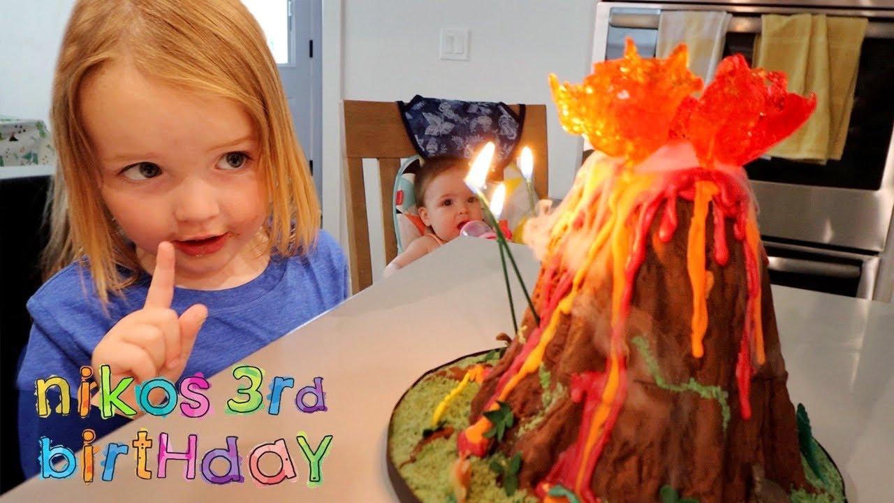 NiKO 3rd BiRTHDAY!!  a Volcano & Dinosaurs at pirate island! the ultimate family party in LAVA LAND