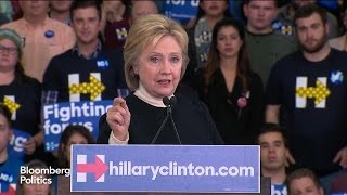 Clinton: 'I Will Work Harder Than Anyone' to Make Change Happen