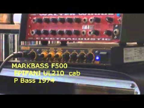 MARKBASS F500 - amps test part 3/5 with top cabs ACCUGROOVE, SCHROEDER, AGUILAR, EPIFANI