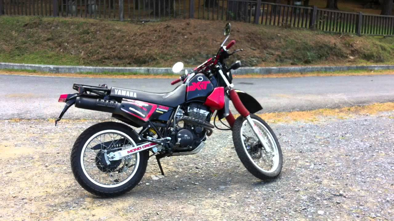 yamaha xt 350 sound and start 1990 year youtube. Black Bedroom Furniture Sets. Home Design Ideas