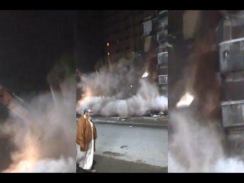 لحظة انهيار عمارة بالاسكندرية