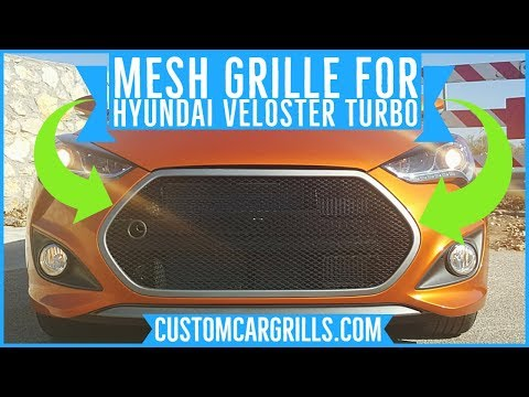 Brickless Grill Mesh Mod for Hyundai Veloster by customcargrills.com