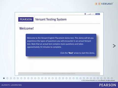 Versant English Placement Test - Product Tour