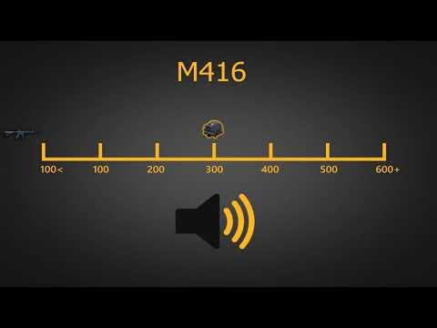 PUBG | M416 Gunfire at Distances